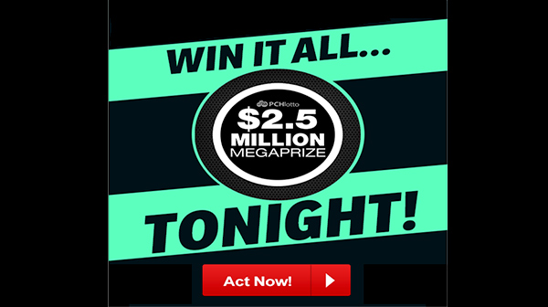 www pchlotto com - Sweepstakes PCH Lotto Megaprize