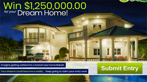 PCH $1250000 DreamHome Sweepstakes