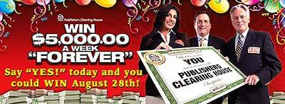 Enter PCH Forever Sweepstakes