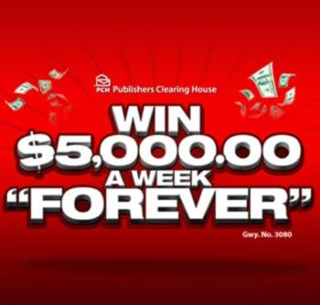 PCH Sweepstakes 5000 week for life