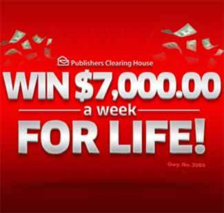 Pch 10000 A Week For Life Sweepstakes Giveaway No 4900 | Review Ebooks