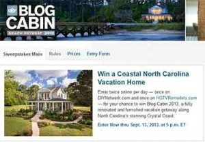 DIY Sweepstakes Blog Cabin
