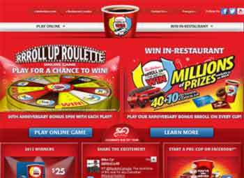 rolluptherimtowin rolluptherimtowin.com   Roll Up The Rim to Win Contest