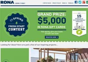 contestrona 300x213 ContestRona   Rona $5000 Fresh Start Contest