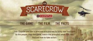 chipotle scarecrow 300x133 Chipotle.com   Scarecrow Game Contest