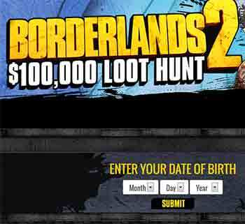 Win $100k Prizes with borderlands2loothunt