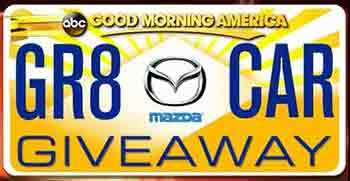GoodMorningAmerica Car Giveaway Goodmorningamerica.com   The Great GMA Car Giveaway Contest