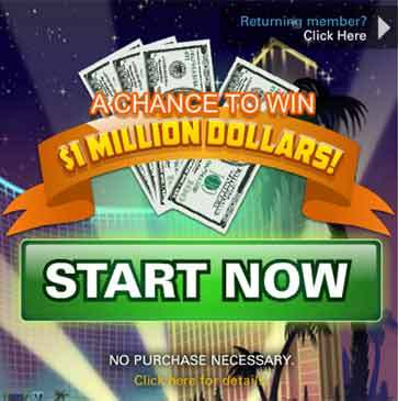 VegasWorld $1Million Sweepstakes