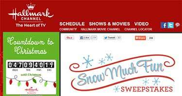hallmarkchannel/snowmuchfun sweepstakes
