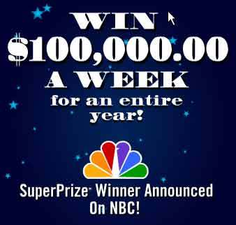 PCH Giveaway 3080 PCH $100,000.00 A Week For A Year Sweepstakes
