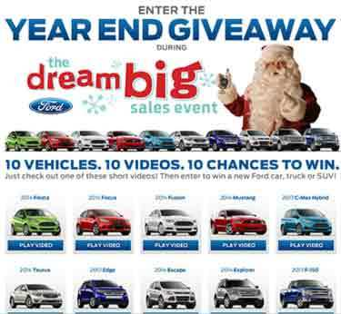 Ford 2013 Year End Celebration Sweepstakes