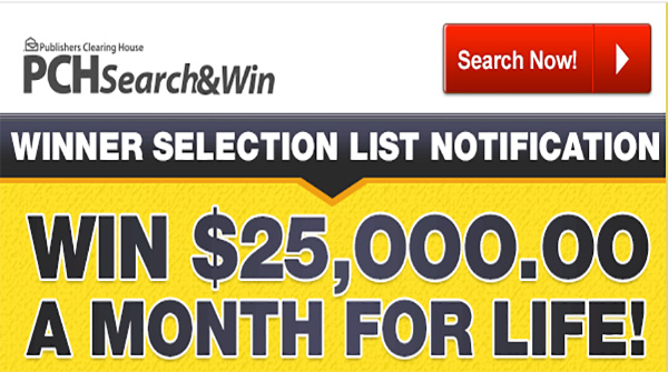 pch search and win instant win