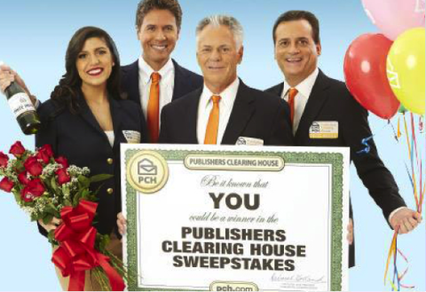 Publish clearing house sweepstakes winner