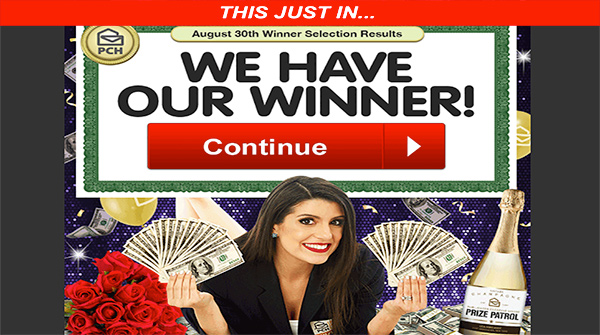 PCH prize patrol and Publishers Clearing House Winner