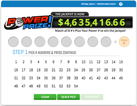 PCH Lotto Power Prize