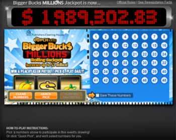 pchlotto biggerbucks PCH Lotto Bigger Bucks Millions Rolling Jackpot