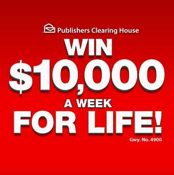 PCH $10,000 A Week For Life Sweepstakes