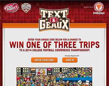 Win College Football Championship Game package