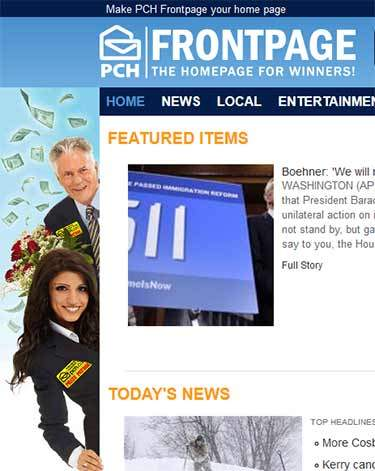 pchfrontpage.com PCH Search and Win