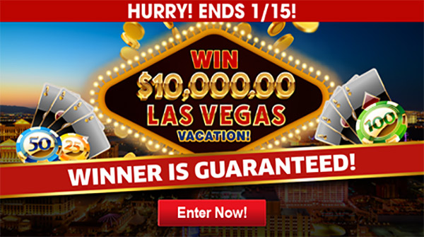 Win $10000 for Vacation in Las Vegas