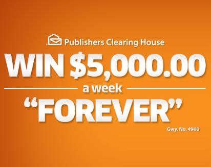 PCH $5000 a Week Forever Sweepstakes Gwy.8800