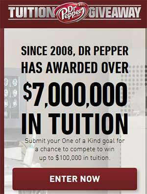 drpeppertuition.com - 2015 Giveaway