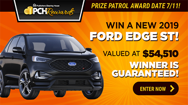 PCH Rewards Ford Edge