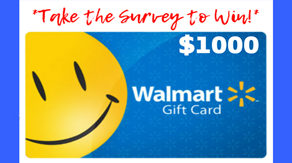 Win $1000 Walmart Survey