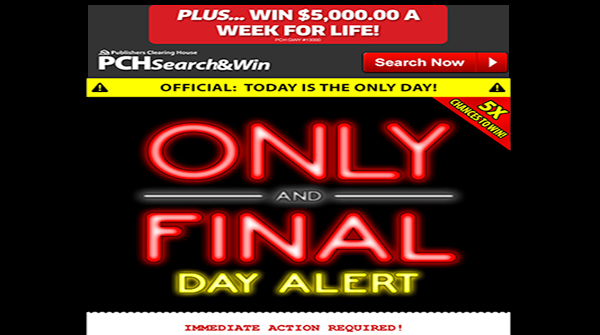 5x Entries PCH Sweepstakes