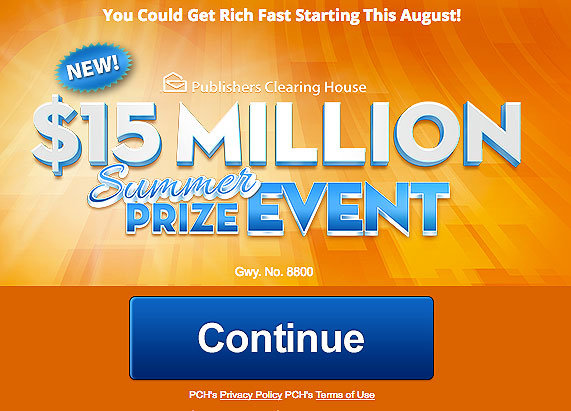 Pch 15 million summer prize event gwy no 8800 for New home giveaway