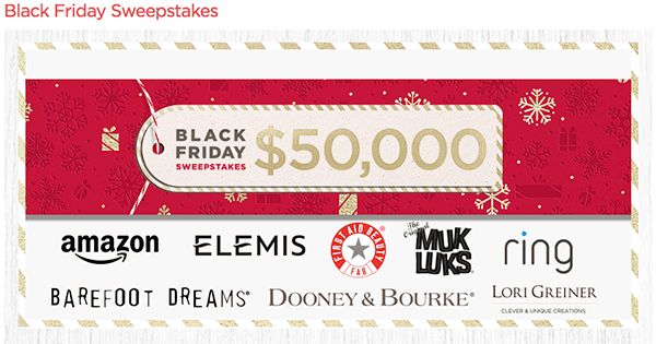 QVC Black Friday Sweepstakes
