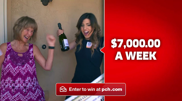 PCH Commercials $7,000 a Week for Life