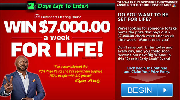 Only Days Left to Enter PCH Sweepstakes