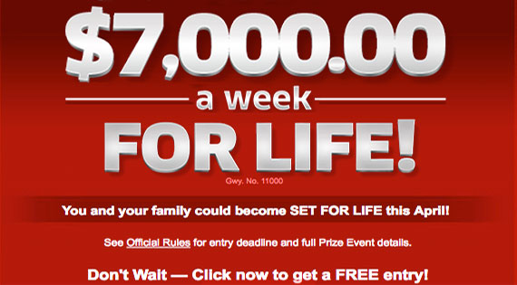 PCH $7,000 a Week for Life