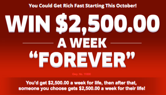 You could WIN PCH Forever Prize