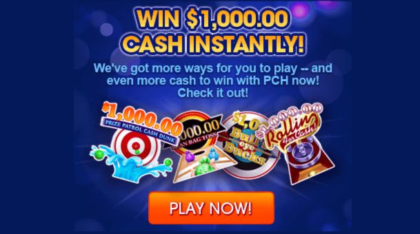 PCH Daily Instant Win Games Sweepstakes