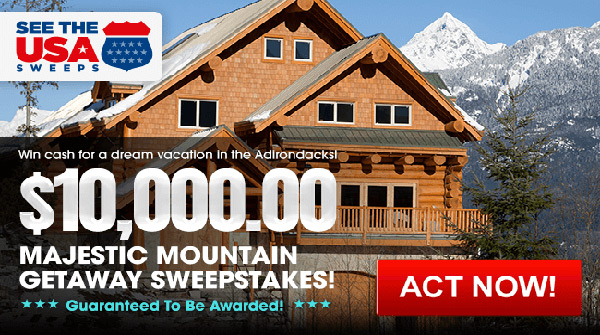 PCH Majestic Mountains Sweepstakes