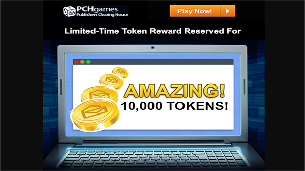 Email Notice PCH Games