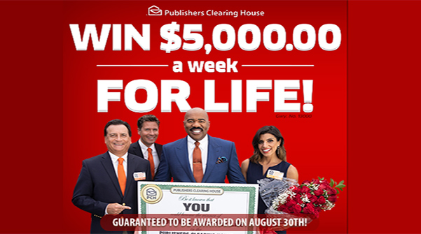 PCH Win $5000 a Week for Life